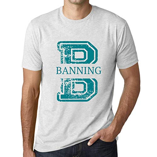 Men's Vintage Tee Shirt Graphic T Shirt Letter B Countries and Cities Banning Vintage White -