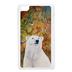 bear Back Case Cover for Ipod Touch 4,diy bear case cover series 5