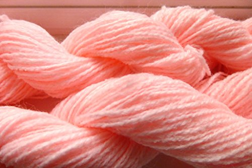 TWO PACK Easy Care Cotton Candy Pink Acrylic Machine Washable Sports crochet knitting Yarn
