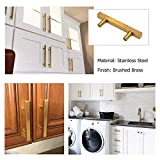 goldenwarm Gold Kitchen Hardware Brass Cabinet