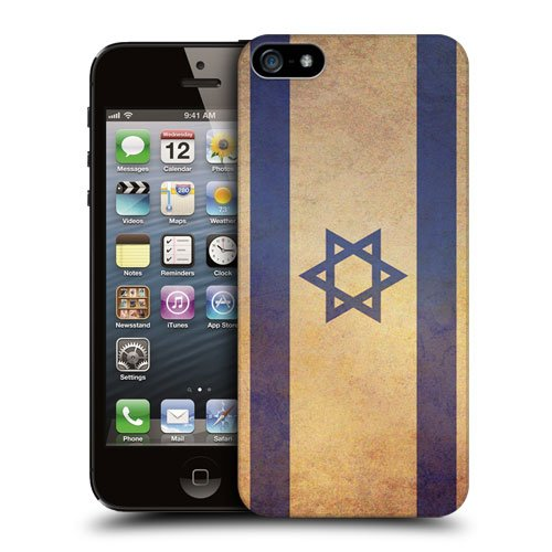 Head Case Designs Israel Israeli Vintage Flags Protective Snap-on Hard Back Case Cover for Apple iPhone 5 5s