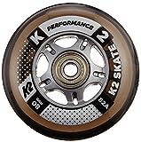 inline skate wheel spacer - K2 Skate Performance 82A 8 Wheel Pack with ILQ 7 Bearings, 80mm,