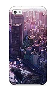For Iphone 5c Tpu Phone Case Cover(city)