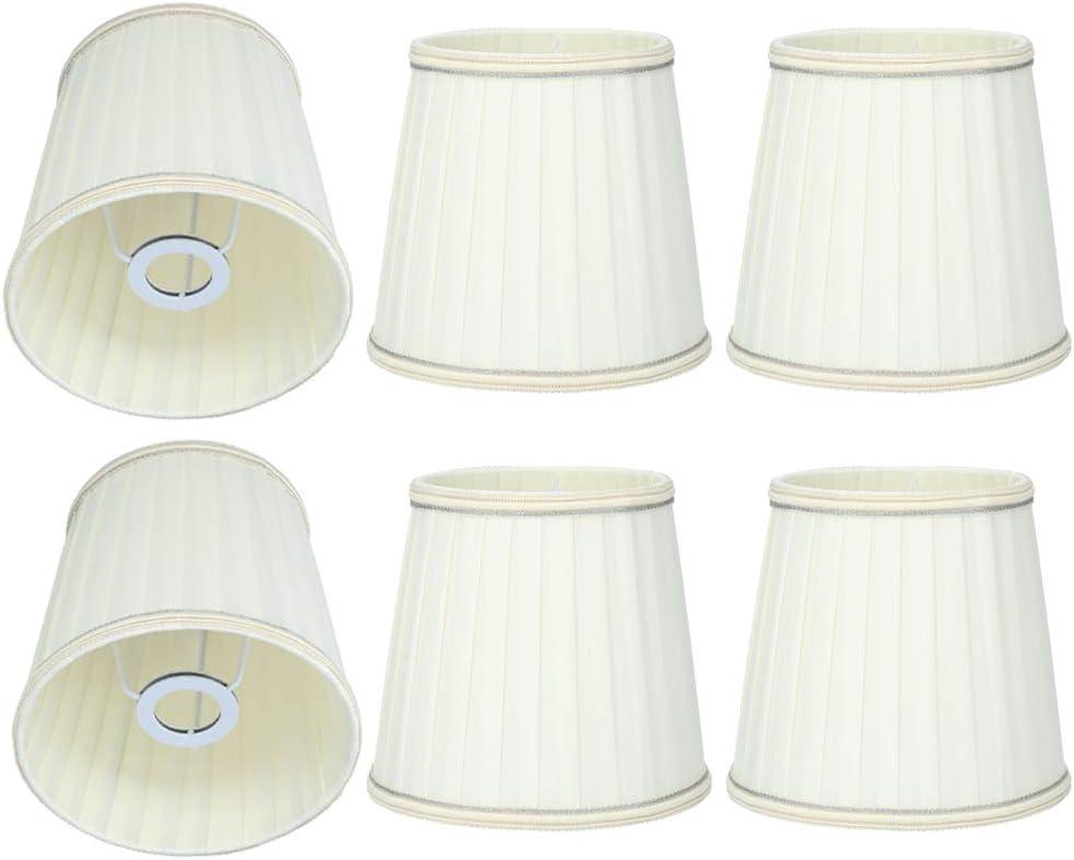 Reemplazo de La Pantalla de La Lámpara de La Cubierta de La Lámpara de Pared de Las Telas 6Pcs para La Decoración de La Tienda Del Bar en Casa