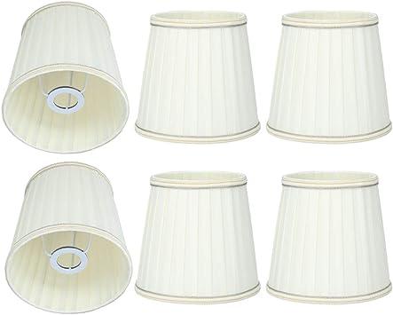 6 piezas de tela beige, lámpara de pared, cortinas, cubierta de luz, pantalla de tela para lámpara de mesa y luz de piso: Amazon.es: Bricolaje y herramientas