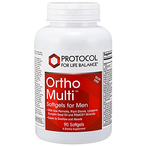Protocol For Life Balance – Ortho Multi™ Softgels for Men (Iron Free) – With Saw Palmetto, Plant Sterols, Lycopene, Pumpkin Seed Oil and TRAACS Minerals, Easier to Swallor and Absorb – 90 Softgels Review