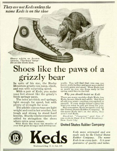 s Rubber Keds Shoes Footwear Clothing Grizzly Bear Fashion - Original Print Ad (Bear Footwear)