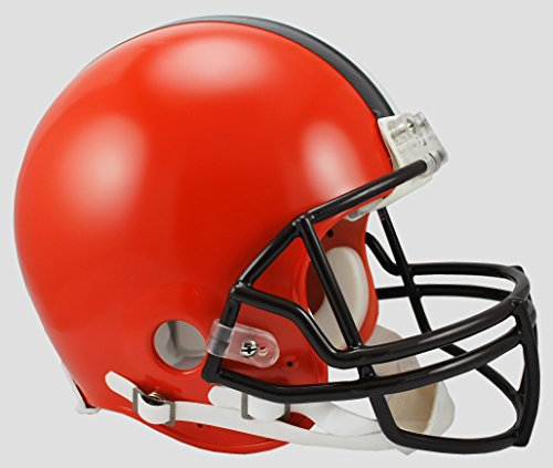 (Riddell NFL Cleveland Browns Authentic Proline Full Size Helmet, Medium, Black/Orange)