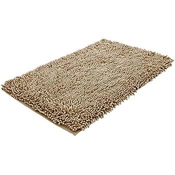 NTTR Super Soft Bath Mat Microfiber Shag Bathroom Rugs Non Slip Absorbent  Fast Drying Bathroom Carpet