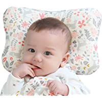 Baby Pillow For Newborn Breathable 3-Dimensional Cool Air Mesh Organic Cotton, Protection for Flat Head Syndrome Bambi Pink