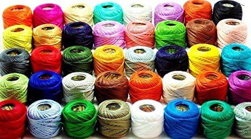 Anchor - Lote de 50 bolas de hilo de algodón, varios colores ...