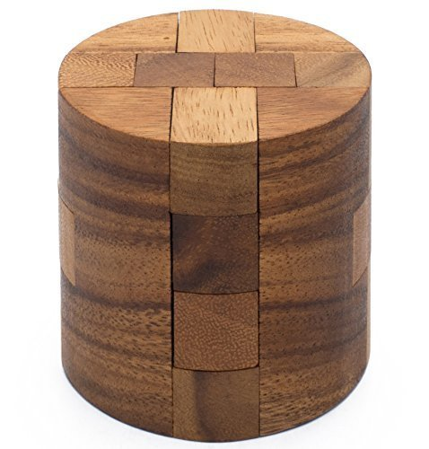 Old Fashioned Wooden Blocks (Powder Keg: Wooden Puzzles for Adults an Interlocking 3D Cylinder Brain Teasers from)