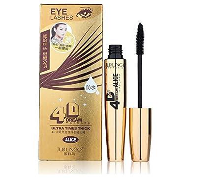 e909f099790 Amazon.com: CASA SHOP New fashion gold style 4D black brand JURLINGO mascara  super-thick volume rolls waterproof mascara mascara: Everything Else
