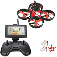 DLFPV 5.8G FPV Mini Drone with Camera 600TVL and 4.3inch LCD Monitor RTF Quadcopter Indoor Drone for Beginners