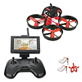 DLFPV 5.8G FPV Mini Drone with Camera 600TVL and 4.3inch LCD Monitor RTF Quadcopter Indoor Drone for Beginners For Sale