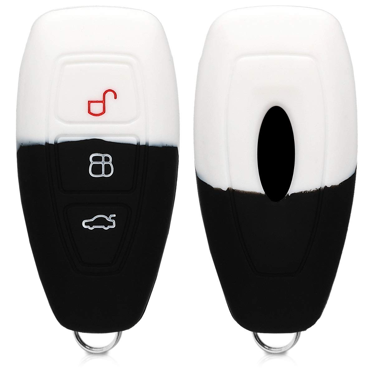 kwmobile Key Cover Compatible with Ford Carbon