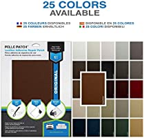 Original 8x11 25 Colors Available Beige-Yellow Pelle Patch 4X Leather /& Vinyl Adhesive Repair Patch