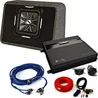 Kicker 11TS10L72 Solobaric Enclosure with MB Quart ZA2-1000.1D 1000 Watt Mono Amp, Bass Knob and Amp Kit