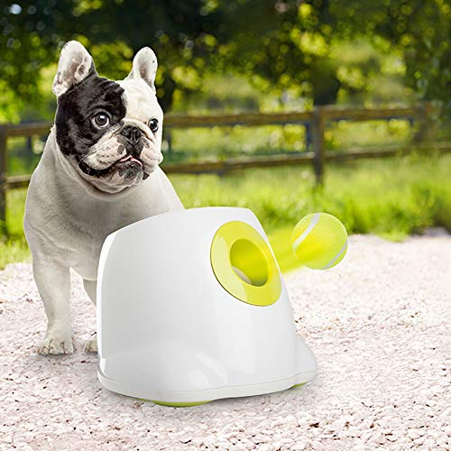 Dog Ball Machine - All for Paws Interactive Automatic Ball Launcher Dog Toy, Tennis Ball Throwing Machine for Dog Training, 3 Balls Included
