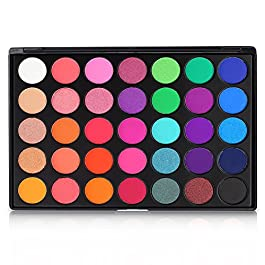 Eyeshadow Palette, 35 Bright Colors Matte Shimmer Eyeshadow Makeup Pallete – Long lasting and High Pigment Silky Powder…