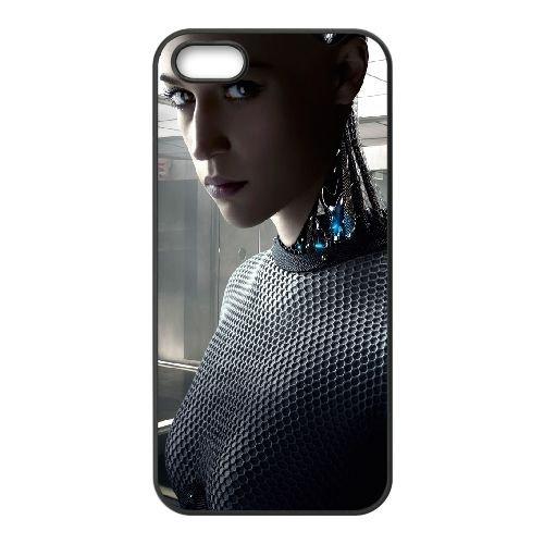 Ex Machina Donal Gleeson Robot 2015 97902 coque iPhone 4 4S cellulaire cas coque de téléphone cas téléphone cellulaire noir couvercle EEEXLKNBC24970