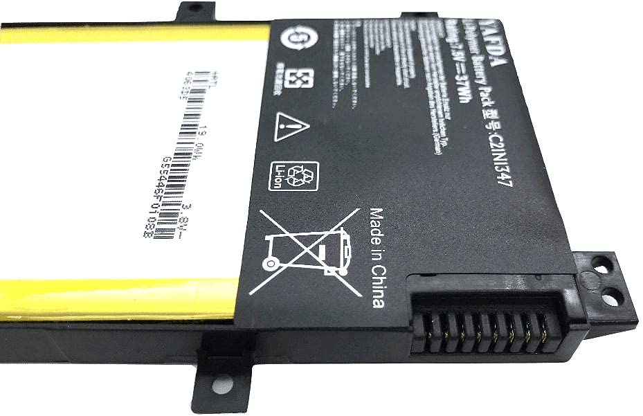 Yafda C21N1347 New Laptop Battery for Asus X554L X555 X555L X555LA X555LD X555LN X555MA A555 A555L F554 F554L F555 F555L FL5500L FL5600L 7.5V37WH