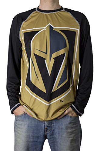 Calhoun Performance Long-Sleeve Rash Guard (X-Large, Vegas Golden - Las Vegas Fashion Mens