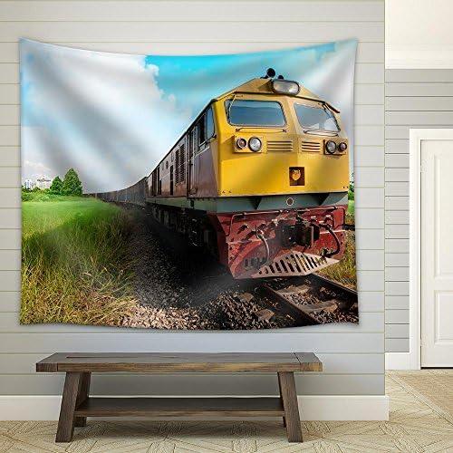 Cargo Train Fabric Wall