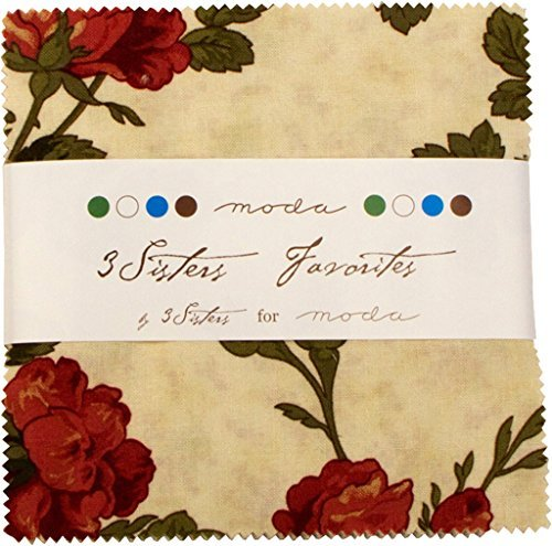 Moda 3 Sisters Favorites 2014 Sample Charm Pack Squares 42 pc 5 Inch ()