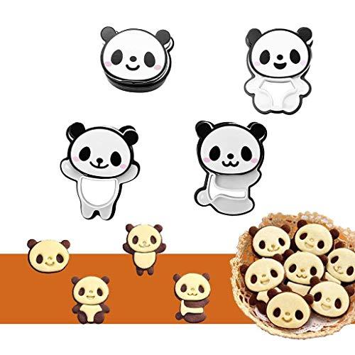 Gotian Plastic Cute Little Panda Mold DIY Bread Cookie Mould Creative Funny Party Decor - Increase children's eating interest - Cute Mini Cactus -Vivid and Interesting Panda Mold (Black&White) ()