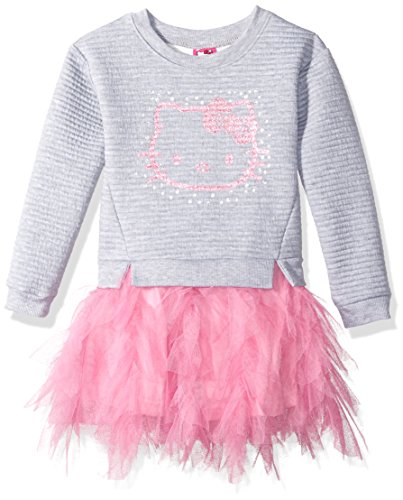 Hello Kitty Little Girls' Embellished Tutu Dress, Gray, 6 by Hello Kitty