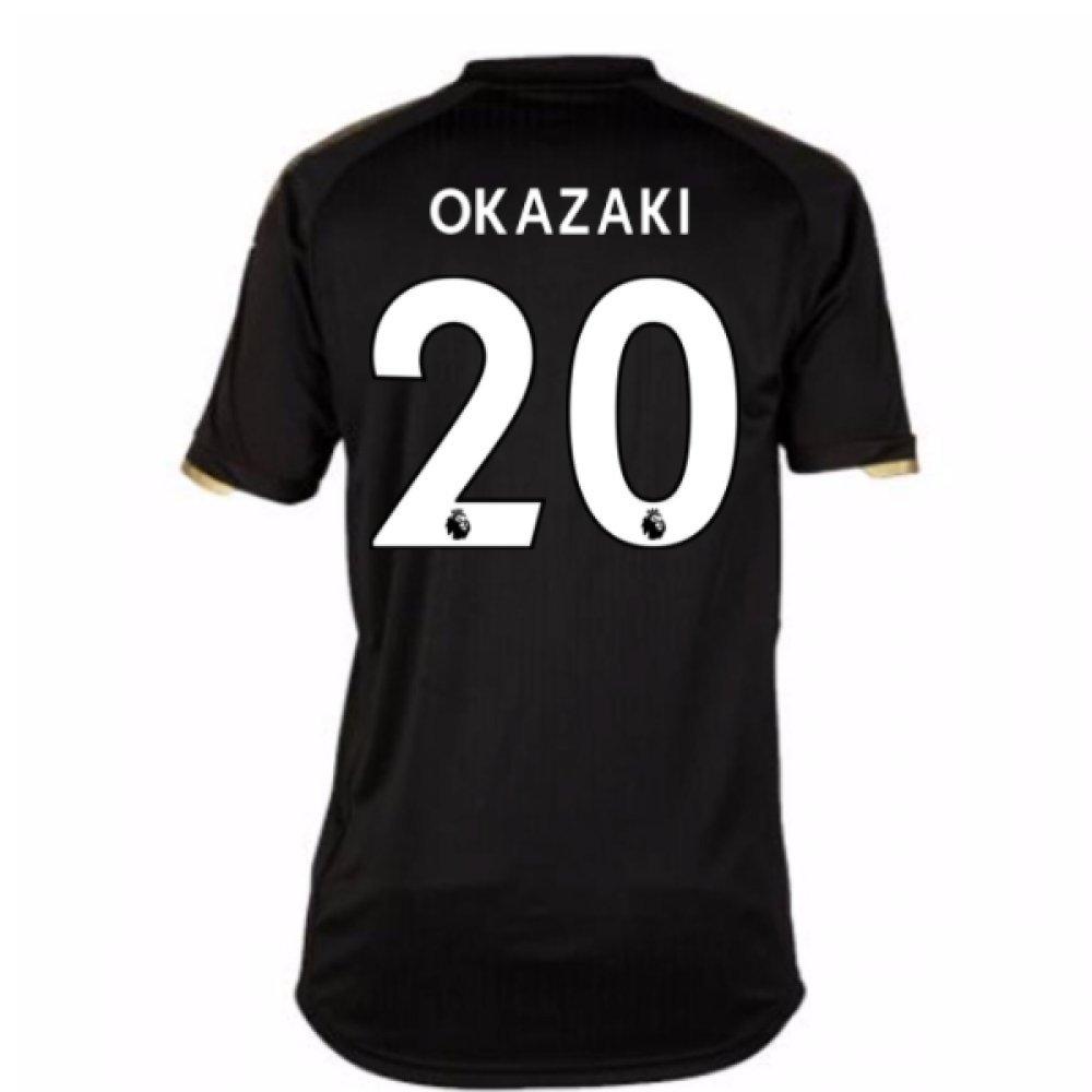 2017-18 Leicester City Away Shirt (Okazaki 20) B077PVXM8VBlack Large Adults