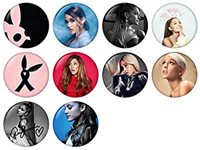 Ariana Grande Pinback Button Badge 1 Inch (25mm) Set, Pack of 10 New