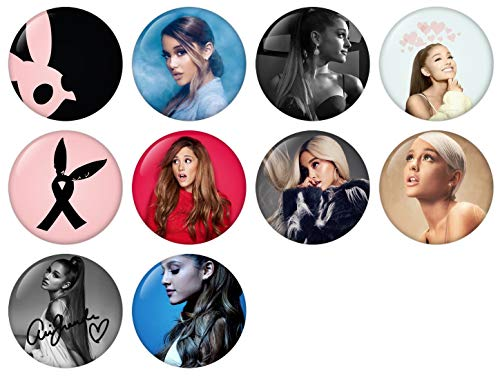 (Ariana Grande Pinback Button Badge 1 Inch (25mm) Set, Pack of 10 New)