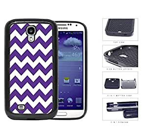 Chevron Design Pattern in Purple 2-Piece Dual Layer High Impact Rubber Silicone Cell Phone Case Samsung Galaxy S4 SIV I9500