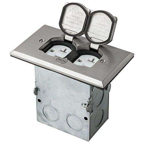Sunlite E575 Stainless Steel Recessed Flip Lid Floor Plate (Steel Plates Floor)
