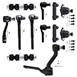 Scitoo 12pcs Suspension Kit 2 Outer Tie Rod 2 Inner Tie Rod 1 Idler Arm 2 Front Sway Bar 1 Pitman Arm 2 Adjusting Sleeve 4WD 03-98 Chevrolet S10 Pick-up 05-98 Chevrolet Blazer