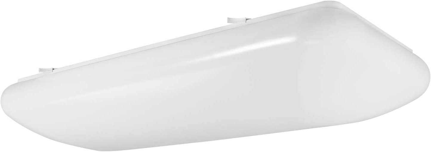 Luxrite 2FT Puff LED Flush Mount Light Fixture, 4000K Cool White, 3500 Lumens, 110-277V, 34W Surface Mount LED Cloud Ceiling Light, Energy Star & ETL Listed, Damp Location