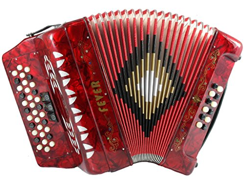 Fever F3412-RD Button Accordion with 34