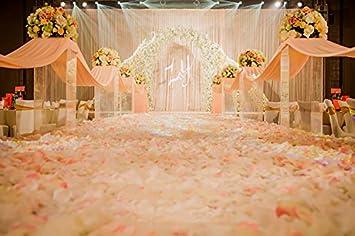 Apig 5000pcs Kunstliche Gewebe Silk Blumen Rosen Blumenblatt