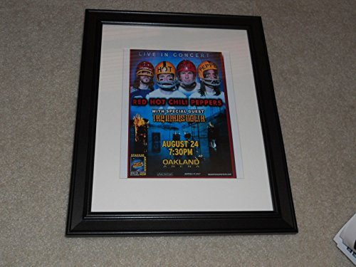 Framed Red Hot Chili Peppers 2006 Oakland, CA Tour Promo Print 14
