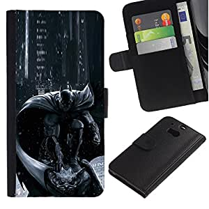 A-type (Pc Console Character Grey Black) Colorida Impresión Funda Cuero Monedero Caja Bolsa Cubierta Caja Piel Card Slots Para HTC One M8