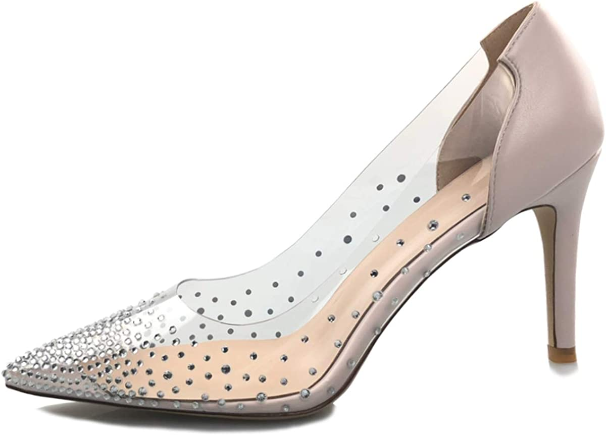 High Heels Pumps Stiletto Pointed Toe Wedding Shoes Woman Suede Or Patent Leather,Patent Silver,8.5