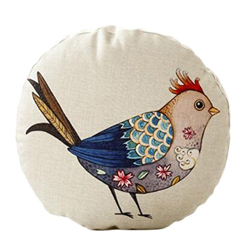 Kylin Express Cute Animal Pattern Sofa Round Cushion Circular Chair Cushion Pillow Seat Pad, A by Kylin Express