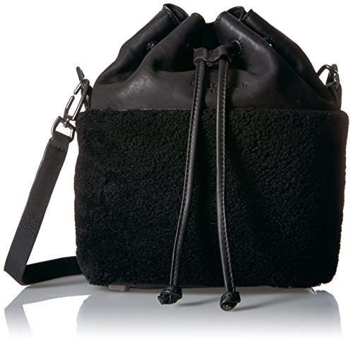 Shearling Lambskin Missisippi Bag Liebeskind and Berlin Women's Bucket Oil Black AwqXpOt