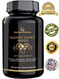 HORNY GOAT WEED WITH MACA ROOT - for Men & Women | Sexual Performance & 100% Natural Libido Boost | Supports Vitality, Testosterone Boost & Stamina | L Arginine, 1000mg Epimedium, Icariins 60 Caps