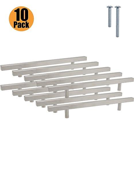 PinLin - Tiradores para armarios de cocina, acero cepillado ...