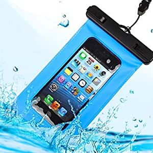 QJM iPhone 6 Water-proof Case Soprt Armband Pouch with buckle strap , Light Blue