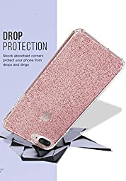 Silk iPhone 7 Plus Glitter Case - PureView for iPhone 7+ [Ultra Slim Fit Clear Sparkle Cover] - Rose Gold