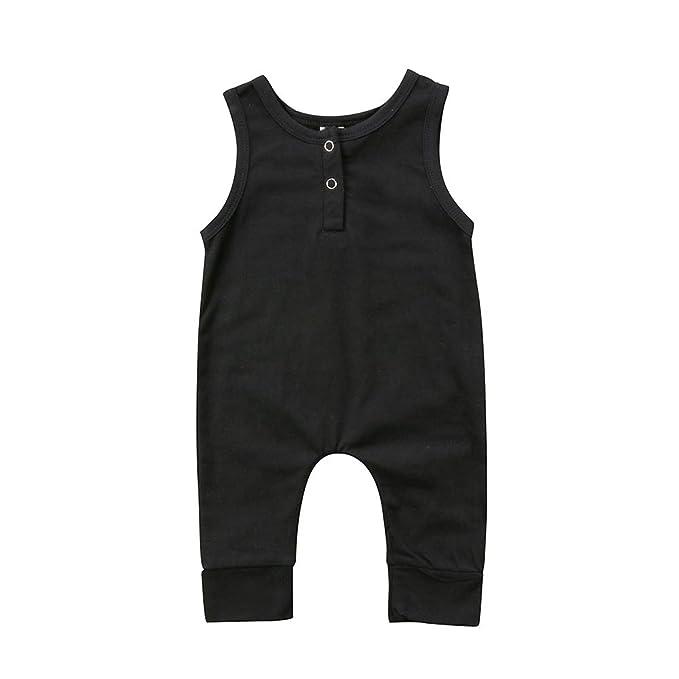 Newborn Infant Baby Girl Boy Sleeveless Romper Bodysuit Jumpsuit Sunsuit Outfits